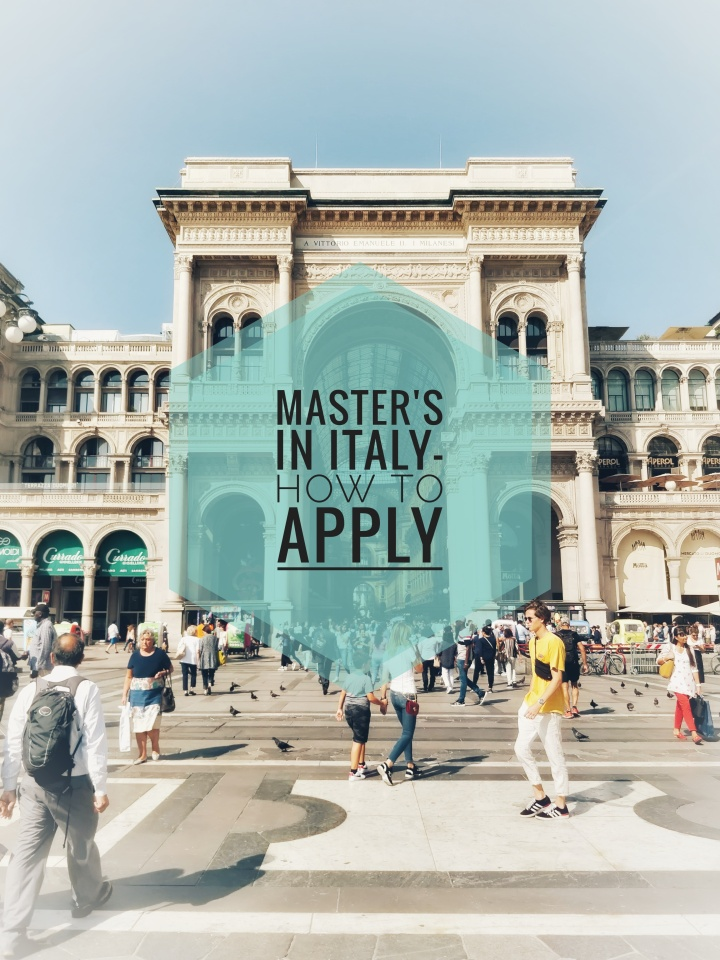 Master's in Italy- How to apply