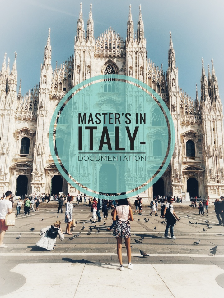 Master's in Italy – Documentation for Visa